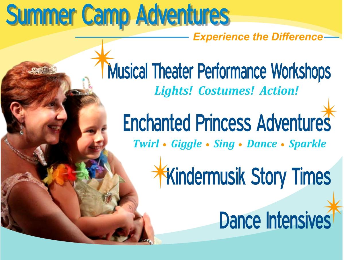 summer camp theater theatre acting musical ballet dance princess preschool kindermusik